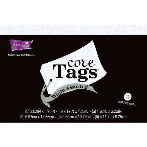 Core'dinations - Core Tags - Textured White Assorted