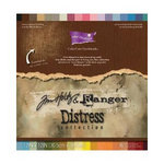 Core'dinations - Tim Holtz - Distress Collection - 12 x 12 Textured Color Core Cardstock Pack