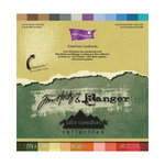 Core'dinations - Tim Holtz - Adirondack Collection - 12 x 12 Textured Color Core Cardstock Pack