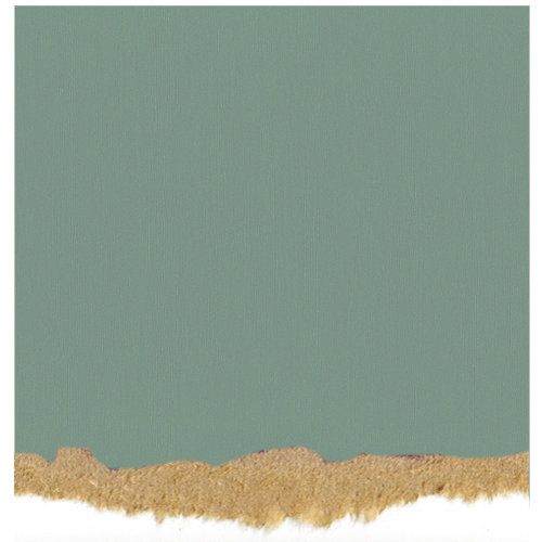 Core'dinations - Tim Holtz - Nostalgic Collection - 12 x 12 Textured Kraft Core Cardstock - Sea Blue