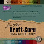 Core'dinations - Tim Holtz - Nostalgic Collection - 6 x 6 Textured Kraft Core Cardstock Pack