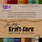 Core'dinations - Tim Holtz - Shattered Collection - 6 x 6 Textured Kraft Core Cardstock Pack