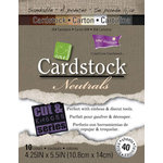 Core'dinations - Neutrals - 4.25 x 5.5 Textured Color Core Cardstock Pack