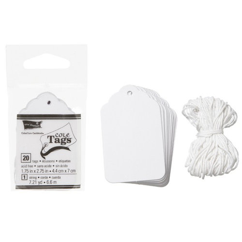 Core'dinations - Core Tags - Gift - White