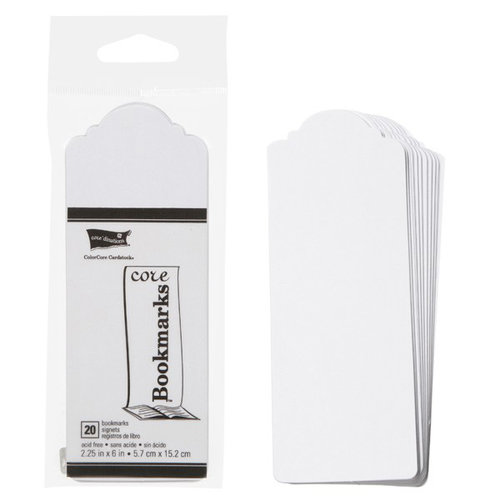 Core'dinations - Core Bookmarks - Scalloped - White