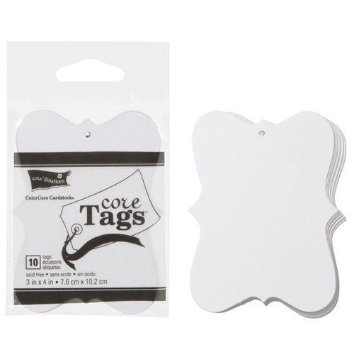 Core'dinations - Core Tags - Fashion - Large - White