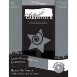 Core'dinations - 8.5 x 11 Adhesive Cardstock - Black Tie Affair