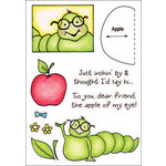 Inky Antics - HoneyPOP Collection - Clear Acrylic Stamps - Caterpillar Set