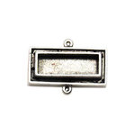 Art Mechanique - Ice Resin - Mixed Metal Bezels - Silver Plated - Raised Rectangle