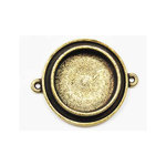 Art Mechanique - Ice Resin - Mixed Metal Bezels - Bronze Plated - Raised Round