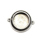 Art Mechanique - Ice Resin - Mixed Metal Bezels - Silver Plated - Raised Round