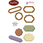 JustRite - Spellbinders - Die Cutting and Embossing Template - Antique Tags One