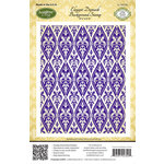 JustRite - Cling Mounted Rubber Stamps - Elegant Damask Background