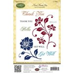 JustRite - Cling Mounted Rubber Stamps - Floral Thank You