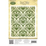 JustRite - Cling Mounted Rubber Stamps - Damask Wallpaper Background
