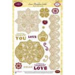 JustRite - Clear Acrylic Stamps - Lace Medallion Labels