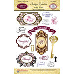 JustRite - Clear Acrylic Stamps - Antique Valentine Tags One