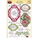 JustRite - Clear Acrylic Stamps - Grateful Heart Vintage Labels Two