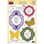 JustRite - Clear Acrylic Stamps - Winged Vintage Labels Two and Three