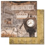 Ken Oliver - Hometown Collection - 12 x 12 Double Sided Paper - Main Street