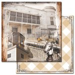 Ken Oliver - Hometown Collection - 12 x 12 Double Sided Paper - Town Square