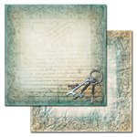 Ken Oliver - Studio Collection - 12 x 12 Double Sided Paper - Brass Keys
