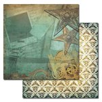 Ken Oliver - Studio Collection - 12 x 12 Double Sided Paper - Rusty Stars