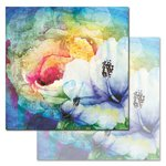 Ken Oliver - Watercolored Memories Collection - 12 x 12 Double Sided Paper - Nightshade