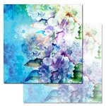 Ken Oliver - Watercolored Memories Collection - 12 x 12 Double Sided Paper - Hydrangea Blossom