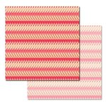 Ken Oliver - Pitter Patterns Collection - 12 x 12 Double Sided Paper - Tattered Stripe