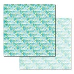 Ken Oliver - Pitter Patterns Collection - 12 x 12 Double Sided Paper - Aqua Print
