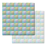 Ken Oliver - Pitter Patterns Collection - 12 x 12 Double Sided Paper - Blockprint Style