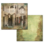 Ken Oliver - Hometown Christmas Collection - 12 x 12 Double Sided Paper - Christmas Cottage