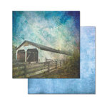Ken Oliver - Covered Bridges Collection - 12 x 12 Double Sided Paper - Lancaster Bridge
