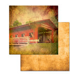 Ken Oliver - Covered Bridges Collection - 12 x 12 Double Sided Paper - Parke County