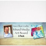 Ken Oliver - Mixed Media - Art Board - 6 x 6 - 3 Pack