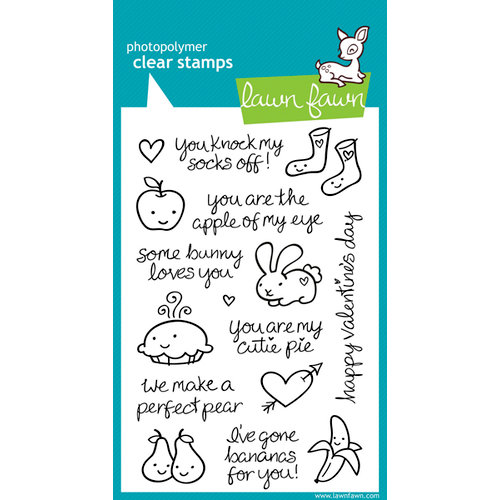Lawn Fawn - Clear Acrylic Stamps - My Silly Valentine