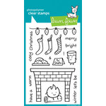 Lawn Fawn - Clear Acrylic Stamps - Christmas - Cozy Christmas