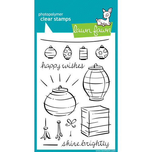 Lawn Fawn - Clear Acrylic Stamps - Lunar Lights