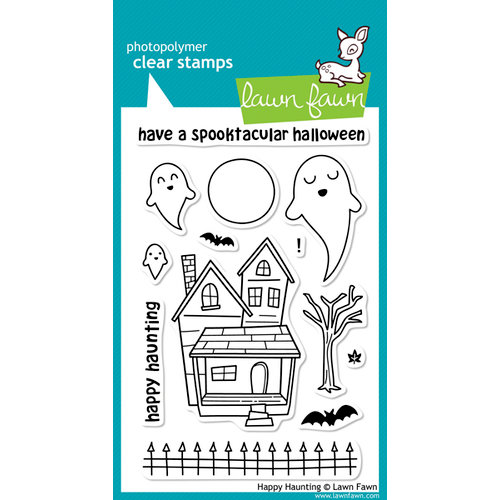 Lawn Fawn - Clear Acrylic Stamps - Halloween - Happy Haunting