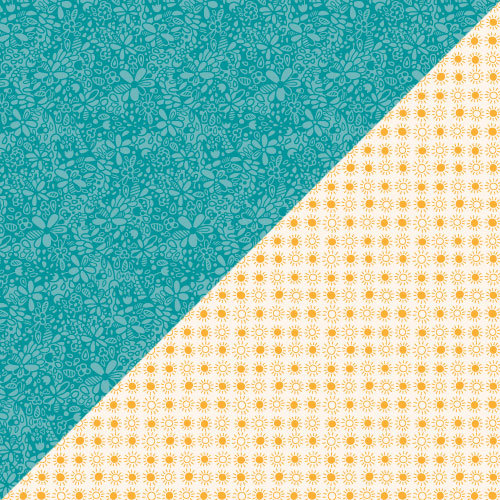 Lawn Fawn - Bright Side Collection - 12 x 12 Double Sided Paper - Bright-Eyed