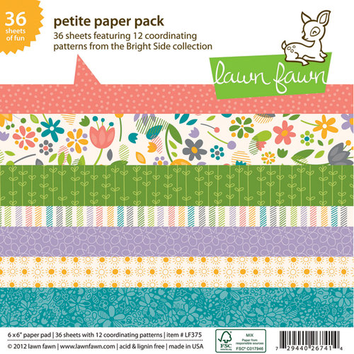 Lawn Fawn - Bright Side Collection - 6 x 6 Petite Paper Pack