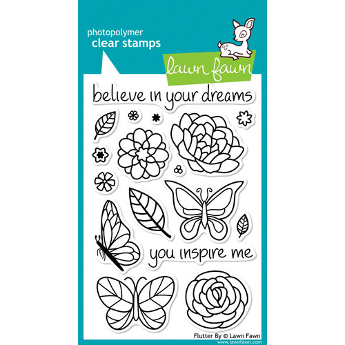 Lawn Fawn - Clear Acrylic Stamps - Flutter By