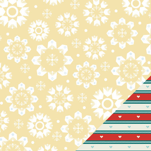 Lawn Fawn - Fa-La-La Collection - Christmas - 12 x 12 Double Sided Paper - All Is Calm