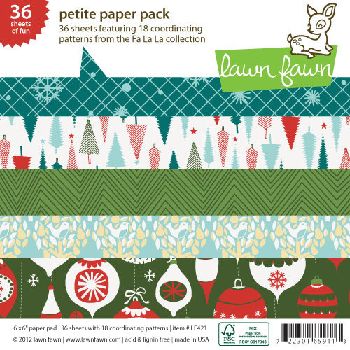 Lawn Fawn - Fa-La-La Collection - Christmas - 6 x 6 Petite Paper Pack
