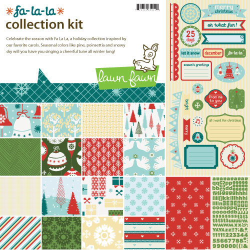 Lawn Fawn - Fa-La-La Collection - Christmas - 12 x 12 Collection Kit