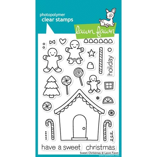 Lawn Fawn - Clear Acrylic Stamps - Christmas - Sweet Christmas