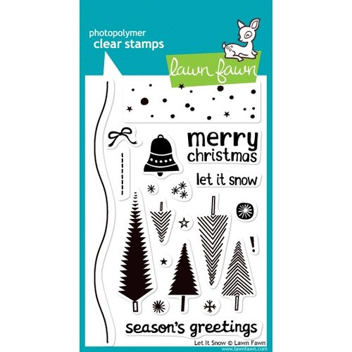 Lawn Fawn - Clear Acrylic Stamps - Christmas - Let It Snow