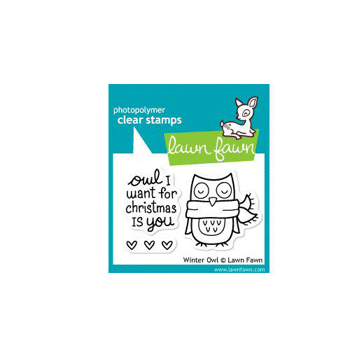 Lawn Fawn - Clear Acrylic Stamps - Christmas - Winter Owl