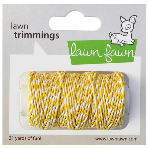 Lawn Fawn - Lawn Trimmings - Bakers Twine Spool - Lemon